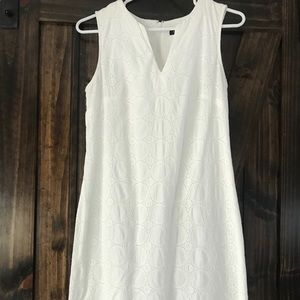 Banana Republic white fitted dress
